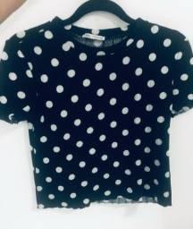 Kit com 2 blusas Zara tamanho P