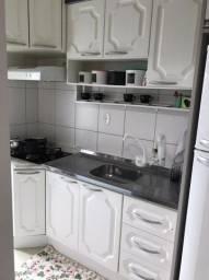Cozinha branca + Suggar + Fogão cooktop 4 bocas