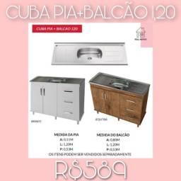 Balcão com Cuba pia