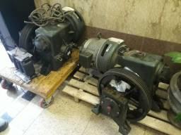 2 motores de elevador com freio