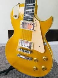 Guitarra Les Paul seminova, cor Gibson 1957, cordas novas, já regulada por luthier e ainda