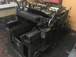 Maquina Mercedes tipografia - corte vinco
