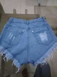Para vender logo. short jeans etiqueta