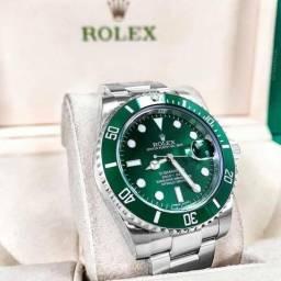 8b8dd0485d7 Relogio rolex submariner gmt automático borracha dourado prata preto verde  azul