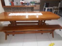 Mesa semi nova de madeira angelim Whats 99912-8080