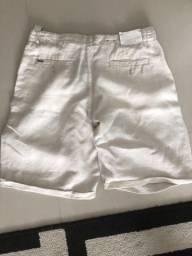 Bermuda tecido tipo linho marca zara