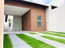 Ws. Casa nova com excelente acabamento com 2 qts,2 banheiros, perto de messejana