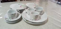 Jogo jantar porcelana casa ambiente sofisticatto de porcelana