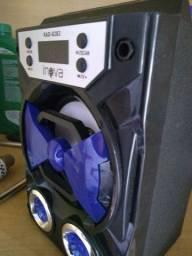 Caixinha de som USB auxiliar bluetooth card rádio