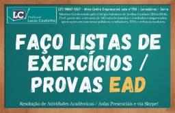 Faço Provas de Engenharias EAD - Soluções Para Listas de Exercícios e Provas!