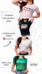 T Shirts- Kit 3 por R$ 100,00 - preço especial atacado / Camiseta Feminina