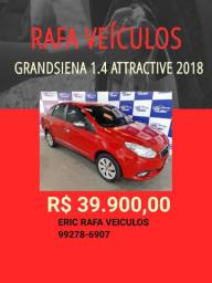 Grand Siena attractive 1.4 2017/2018 R$ 39.900,00 - Rafa Veiculos Eric hgg1