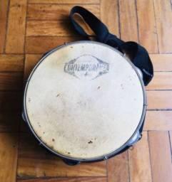 Pandeiro Contemporânea 10 polegadas/pele de couro + bag