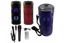 Mega caixa de som Bluetooth com microfone e contro remoto