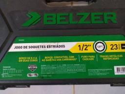 JOGO DE SOQUETE ESTRIADO BELZER