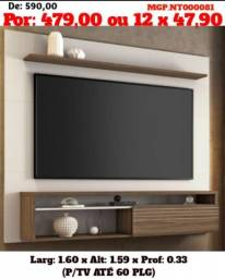 Painel de televisão até 60 Plg- Painel de tv-Sala de Estar-Liquida Curitiba