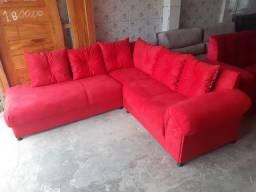 Sofa em L  estofaria BRANDÃO ultima unidade