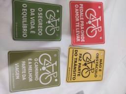 Plaquinhas para bike