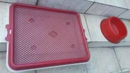 Tapete higienico lavavel + Vasilha com peso de ração ou água - Entrego