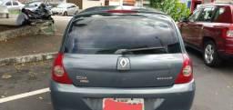 Renault Clio 2007 1.0 flex cinza completo. segundo dono