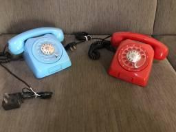 Telefone Disco Retrô restaurado