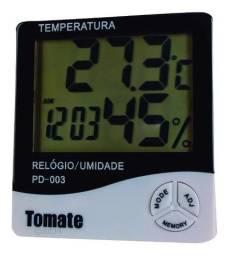 Termo Higrômetro Digital Relógio Umidade Temperatura Ar - Loja Natan Abreu
