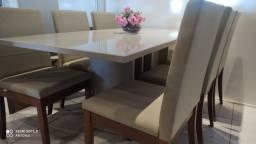 Mesa de jantar promoção cadeiras de madeira maciça