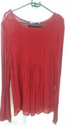 Nova - Blusa vermelha de manga