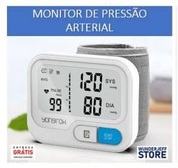 Monitor digital de PA de pulso - Novo - Entrega + Pilhas Grátis