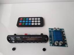 Kit Placa Usb + Amplificador 30W+30W dois Canais