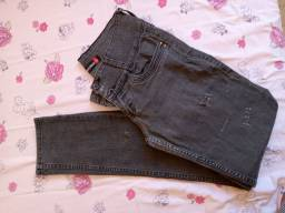 Calça jeans cinza