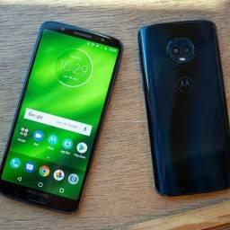 Moto G6 64gb 4 de ram Android 10 leitor digital e facial