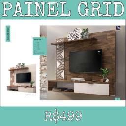 Painel Grid Sala de estar Painel Grid Para Tv Móveis 10294