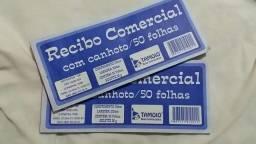 Recibo Comercial Com Canhoto/50 Folhas/ 2 Blocos