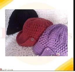 Chapéu de crochê novo