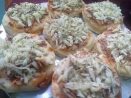 Pacote com 10 mini pizzas