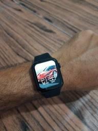 Smartwatch HW22 Preto e rose