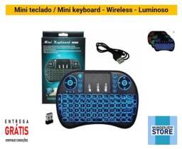 Promoção - Mini teclado / Mini keyboard sem fio wireless luminoso - Entrega Grátis