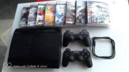 Vendo Playstation 3 muito novo - Play3 Super Slim