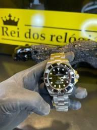 Título do anúncio: Rolex SUBMARINER prata com preto clássico