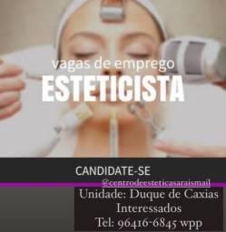 Vagas de Emprego Esteticista , Biomédicos , Manicures