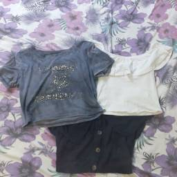 Camisas croppeds de diferentes estilos