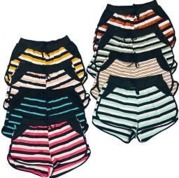 Shorts Feminino Viscolaycra C/ Laço Bolso Short Moda