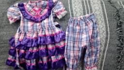 Vestido caipira infantil + laço
