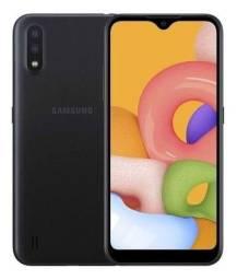Título do anúncio: Samsung A01 Preto 32gB na caixa semi-novo