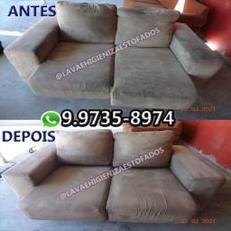 Limpeza Higienização de sofá / Reparo em tecido de estofados