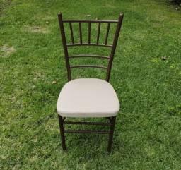 Cadeiras Tiffany de Ferro na Cor marrom