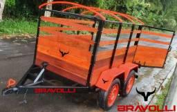 Título do anúncio: BRAVOLLI - Carretinha e Reboque inovação em cada detalhes