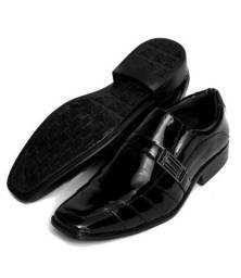 Sapato Social Masculino Selten Esporte Fino Preto Verniz (Promoção de Fim de Ano)
