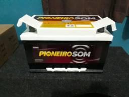 Bateria pioneiro som na garantia 80 amperes